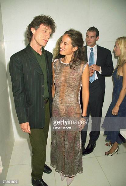 Rolling Stones singer Mick Jagger with his daughter Jade at the launch of her jewellery range London 20th September 1999