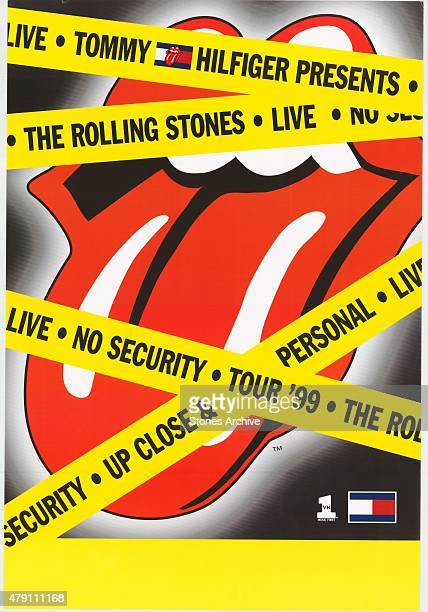Rolling Stones Tour Poster from 1999 This poster will form part of The Rolling Stones 'Exhibitionism' at Londons Saatchi Gallery Mick Jagger Keith...