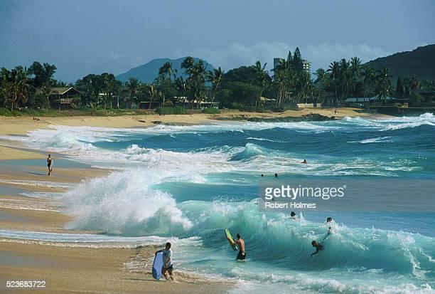 Rolling Surf on Makaha Beach