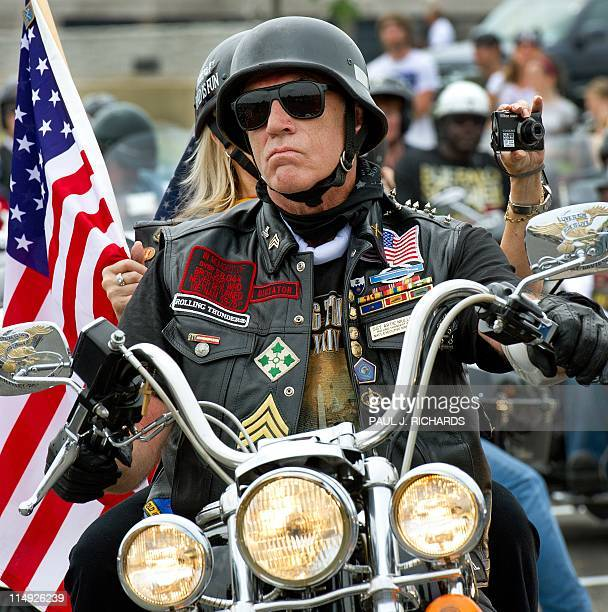 Rolling Thunder National Executive Director Sgt Artie Muller takes one of the lead positions in the May 29 Rolling Thunder motorcycle ride from the...