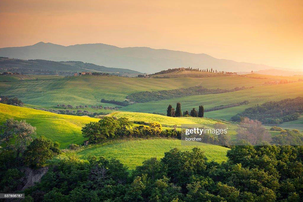 Toscana, Paesaggio collinare : Foto stock