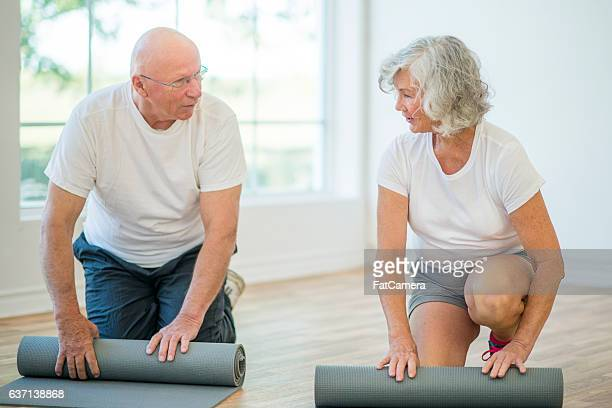 Rolling Up Exercise Mats