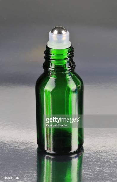 Roll-on applicator on an Essential Oil health bottle