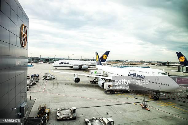 A380 Version für Abreise in Frankfurt Airport