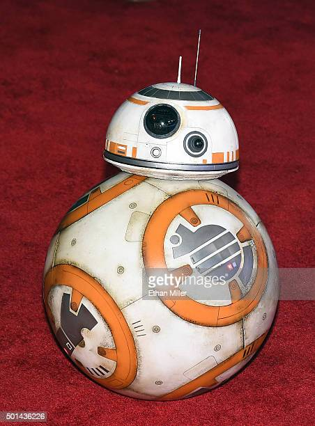 BB8 rolls down the red carpet at the premiere of Walt Disney Pictures and Lucasfilm's Star Wars The Force Awakens at the Dolby Theatre on December 14...
