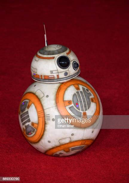 BB8 rolls down the red carpet during the premiere of Disney Pictures and Lucasfilm's Star Wars The Last Jedi at The Shrine Auditorium on December 9...