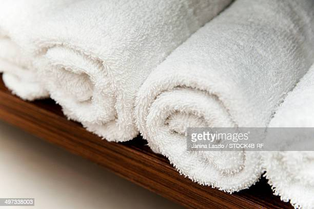 Rolls of bath towels