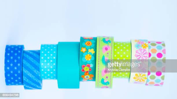 Rolls of decorative sticky tape for crafts