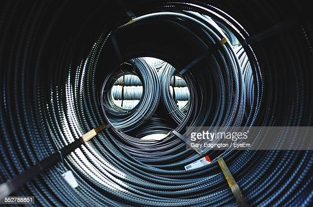 Rolls Of Metal Rods At Construction Site