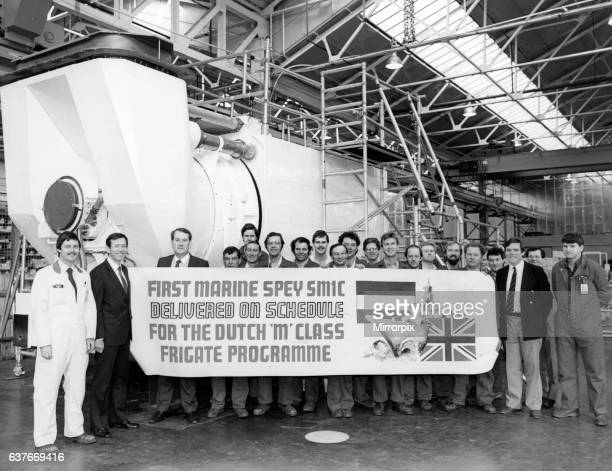 Rolls Royce Ansty engineering works Coventry March 1987 The plant has reached a milestone in the development of a new generation of new more powerful...