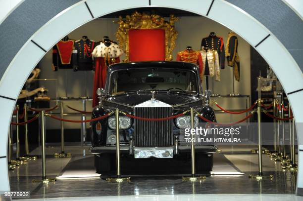 Rolls Royce belonging to Michael Jackson is displayed at the 'Never Land' room during the press preview of Michael Jackson exhibition 'The official...