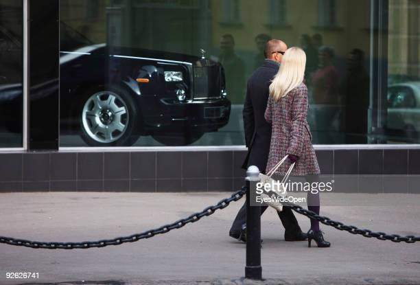 Rolls Royce car dealer on October 14 2009 in Moscow Russia Moscow is the biggest European City with more than 15 million inhabitants