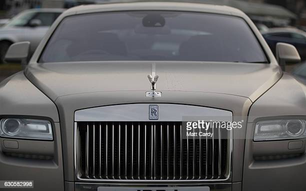 Rolls Royce car is parked during the 2016 Coral Welsh Grand National at Chepstow Racecourse on December 27 2016 in Chepstow Wales Traditionally the...