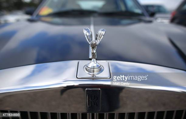 Rolls Royce car is seen in the car park on the first day of the Cheltenham Festival on March 11 2014 in Cheltenham England Thousands of racing...