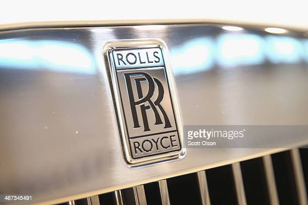 Rolls Royce displays a $500000 2014 Phantom Drophead Coupe at the Chicago Auto Show on February 6 2014 in Chicago Illinois The show which is oldest...