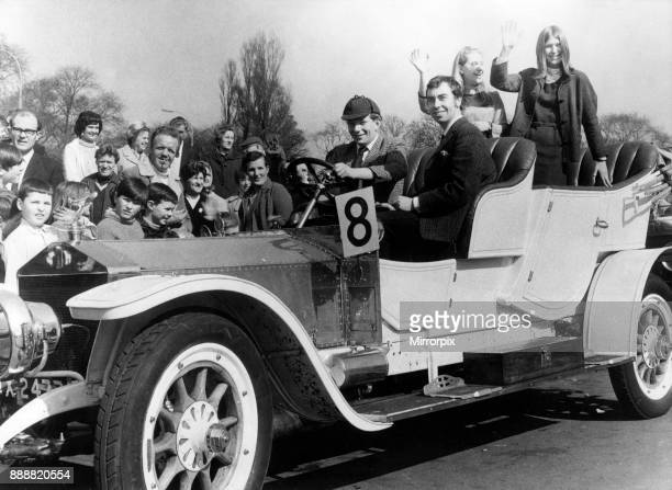 Rolls Royce driven by Paul Thompson of Middlesbrough Also pictured are codriver Ken Leach of Middlesbrough and passengers Janet Kirkham of Redcar and...