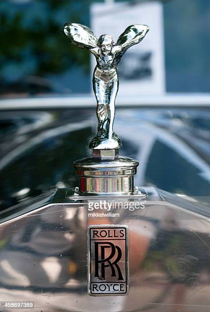 rolls royce hood ornament - spirit of ecstasy - hood ornament stock pictures, royalty-free photos & images