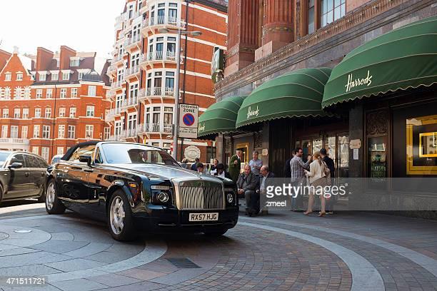 Rolls Royce parked in front of Harrods