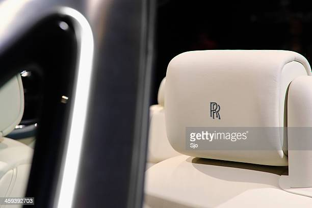 rolls royce phantom detail - rolls royce stock photos and pictures