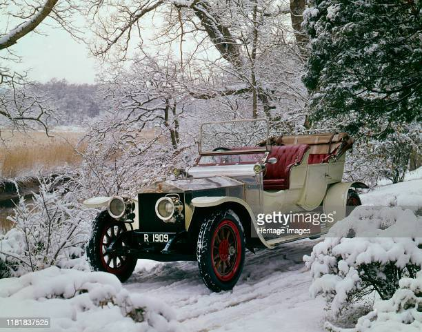 Rolls Royce Silver Ghost Roi Des Belges in snowy conditions at Beaulieu Creator Unknown