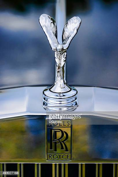 "rolls royce ""spirit of ecstasy"" hood ornament - hood ornament stock pictures, royalty-free photos & images"