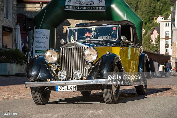 Rolls Royce vintage cars at the start of annual the British Classic Car Meeting 2014, St.Moritz, Switzerland.