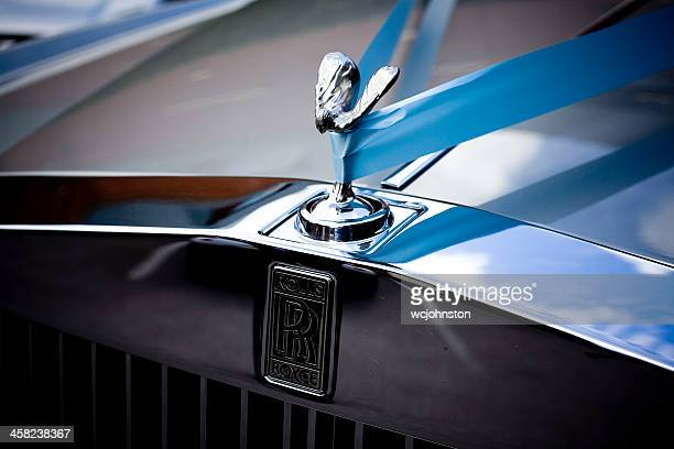 rolls royce wedding car spirit of ecstasy - rolls royce stock photos and pictures