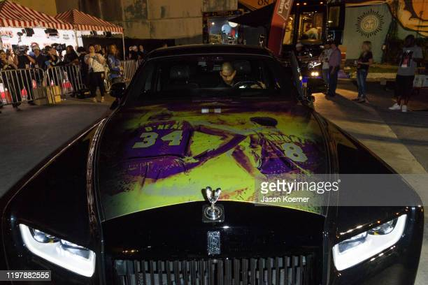 Rolls Royce wrapped as a homage to Kobe Bryant at Shaq's Fun House at Mana Wynwood Convention Center on January 31 2020 in Miami Florida
