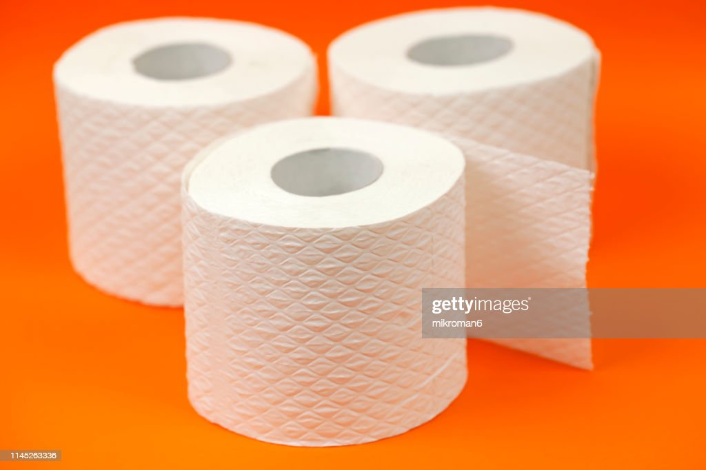 Rolls toilet paper. Toilet Tissue Rolls : Stock Photo