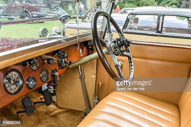 "rolls-royce 40/50hp phantom i regent convertible coupe interior - ""sjoerd van der wal"" stock pictures, royalty-free photos & images"