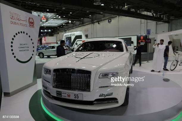 RollsRoyce is displayed during Dubai International Motor Show 2017 at Dubai World Trade Centre in Dubai United Arab Emirates on November 14 2017