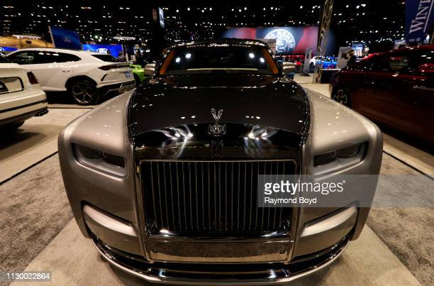 Rolls-Royce Phantom is on display at the 111th Annual Chicago Auto Show at McCormick Place in Chicago, Illinois on February 7, 2019.