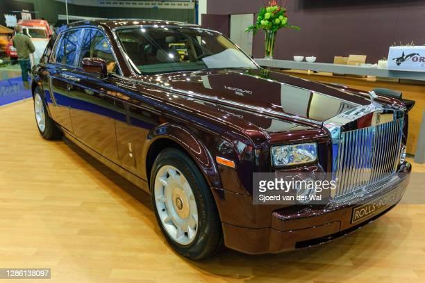 Rolls-Royce Phantom luxury limousine on display at Amsterdam motor show AutoRAI on February 9, 2005 in Amsterdam, The Netherlands.