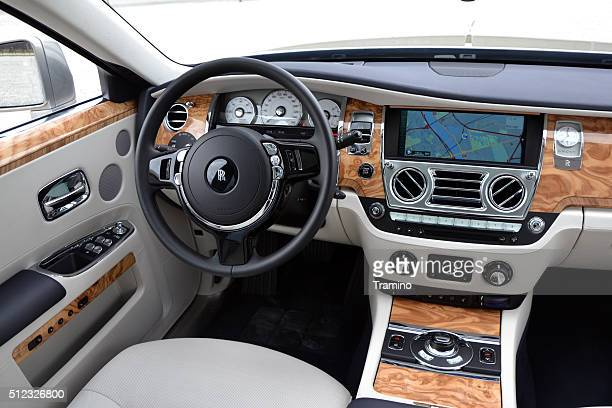 rolls-royce silver ghost interior - rolls royce stock photos and pictures
