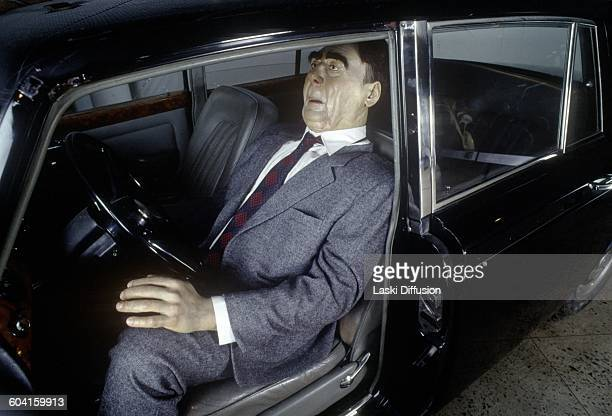 RollsRoyce Silver Shadow crashed by Leonid Brezhnev on display in Riga Motor Museum On the driver's seat a figure of Leonid Brezhnev is to be seen...