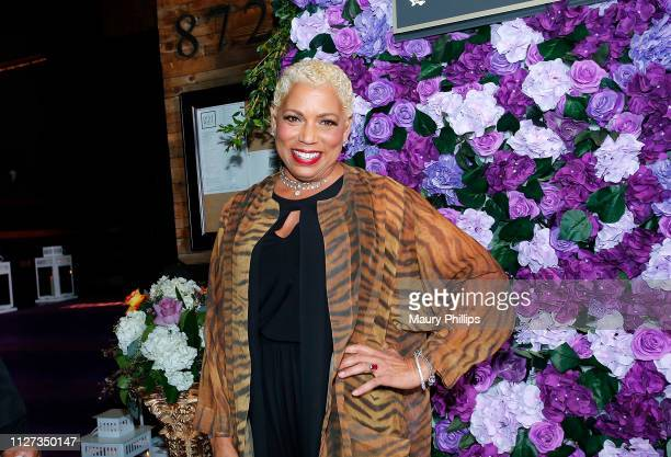 Rolonda Watts attends The Griot Gala Oscars After Party 2019 at The District by Hannah An on February 24 2019 in Los Angeles California