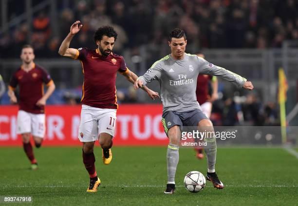 FUSSBALL AS Rom Real Madrid Cristiano Ronaldo gegen Mohamed Salah