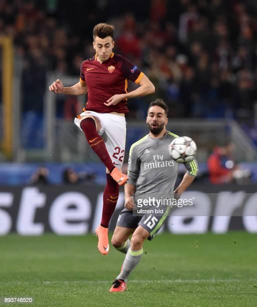 FUSSBALL AS Rom Real Madrid Stephan El Shaarawy gegen Daniel Carvajal