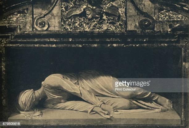 Roma Basilica of St Caecilia Statue of the Saint by Maderno' 1910 From Cento Vedute Classiche di Roma [Enrico Verdesi Rome 1910] Artist Carlo Maderno