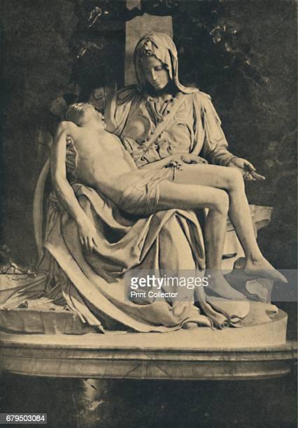 Roma Basilica of St Peter Pieta by Michelangelo' 1910 From Cento Vedute Classiche di Roma [Enrico Verdesi Rome 1910] Artist Michelangelo Buonarroti