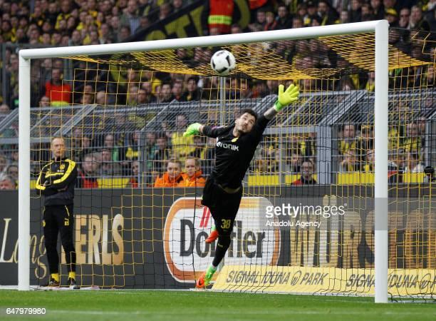 Roma Buerki of Borussia Dortmund in action during the Bundesliga soccer match between Borussia Dortmund and Bayer 04 Leverkusen at the Signal Iduna...