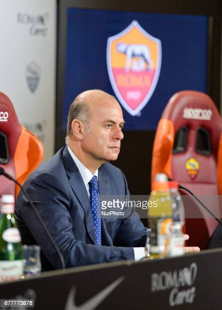 AS Roma CEO Umberto Gandini during presentation of the New Sporting Director Ramon Rodriguez Verdejo Monchi on May 3 2017 in Rome Italy