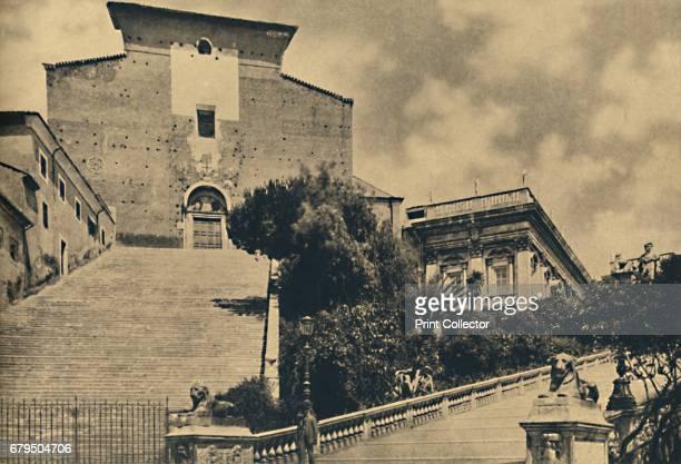 Roma Church of S Maria in Aracoeli on the Capitoline Hill' 1910 From Cento Vedute Classiche di Roma [Enrico Verdesi Rome 1910] Artist Unknown