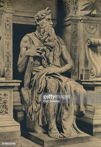 Roma Church of St Peter in Vinculis Moses by MIchelangelo' 1910 From Cento Vedute Classiche di Roma [Enrico Verdesi Rome 1910] Artist Michelangelo...