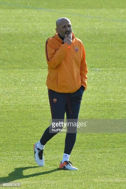 AS Roma Coach Luciano Spalletti during training session at Centro Sportivo Fulvio Bernardini on March 15 2017 in Rome Italy