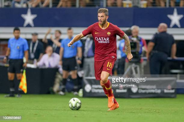 Roma defender Davide Santon handles the ball during the International Champions Cup between FC Barcelona and AS Roma on July 31 2018 at ATT Stadium...