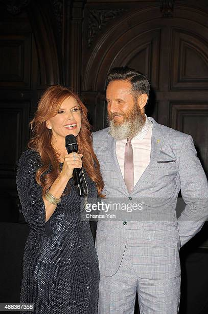Roma Downey and Mark Burnett attend 'AD The Bible Continues' New York Premiere Reception at The Highline Hotel on March 31 2015 in New York City