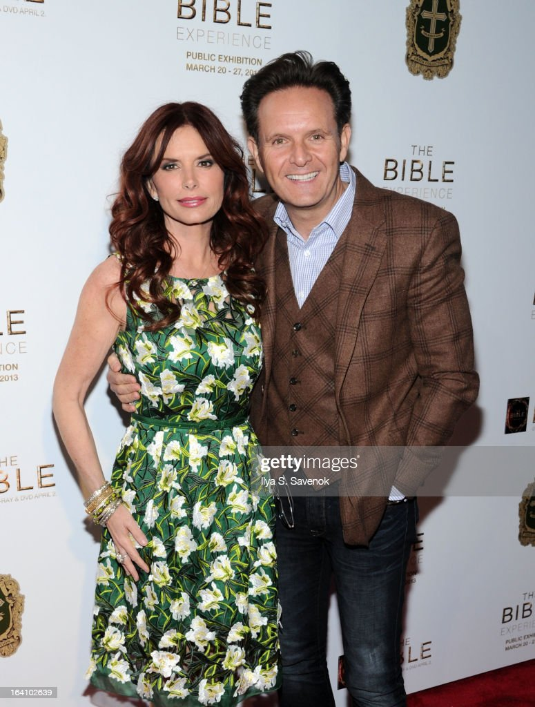 Roma Downey and Mark Burnett attend 'The Bible Experience' Opening Night Gala at The Bible Experience on March 19, 2013 in New York City.