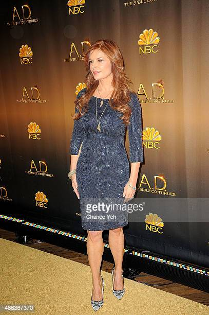 Roma Downey attends 'AD The Bible Continues' New York Premiere Reception at The Highline Hotel on March 31 2015 in New York City