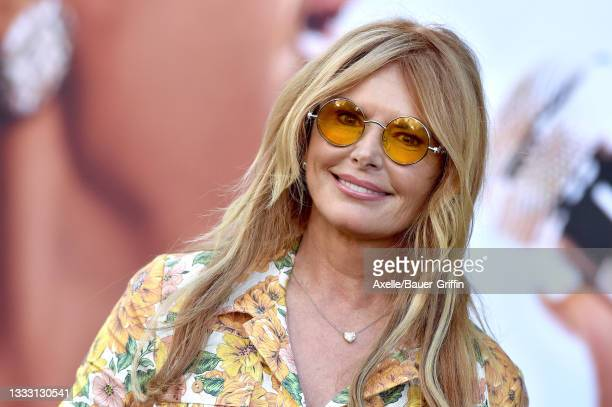 """Roma Downey attends the Los Angeles Premiere of MGM's """"Respect"""" at Regency Village Theatre on August 08, 2021 in Los Angeles, California."""